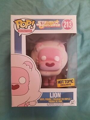 FUNKO POP! Steven Universe Flocked Pink Lion Series 2  #213 Hot Topic