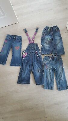 Girls NEXT , BABY GAP Jeans Age 12-18mths & 1-2 yrs Flowers design x 4 pairs