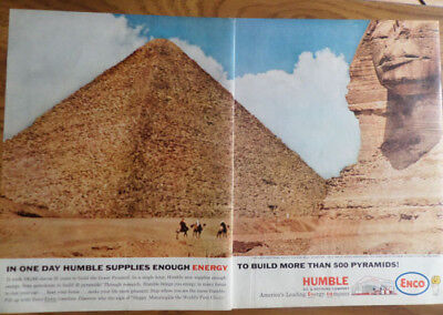 1962 Humble Oil Enco Ad  Egypt's Great Cheops Pyramid