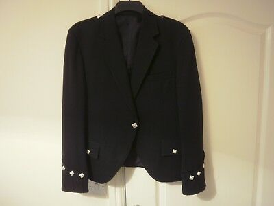 Gents Black Argyle Pipers Jacket