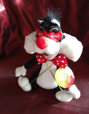 Looney Tunes VALENTINE Sylvester the Cat PLUSH Stuffed Animal Small toy