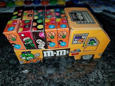 M&M's Mini's School Bus  Complete w/Candy VINTAGE