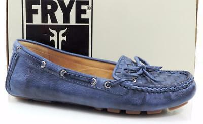 4f7e515fcec Womens Shoes Frye Reagan Campus Driver Moccasins Walking Leather Blue Size  5.5