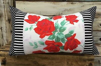 Vintage red rose Tablecloth by Wilunder Pillow Cover