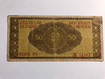 Banknote/Notgeld 50 pfennig year 1917 from Germany