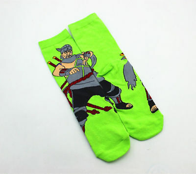 Naruto Character Anime Cosplay Unisex Cotton Socks - a4a - Brand New