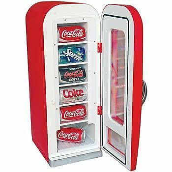Coca Cola Retro Vending Machine Can Fridge