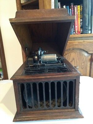 Antique Edison Cylinder Portable Phonograph