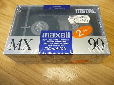 MAXELL MX 90 POSITION IEC TYPE IV METAL High Resonance - 2 Pack - SEALED NEW