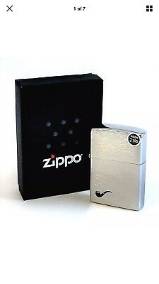 BRAND-NEW Zippo Brushed Chrome Pipe Lighter Windproof Lighter In Box, # 200PL