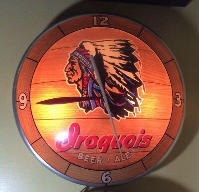 Vintage, Iroquois Beer & Ale Double Bubble Advertising Clock 1950's