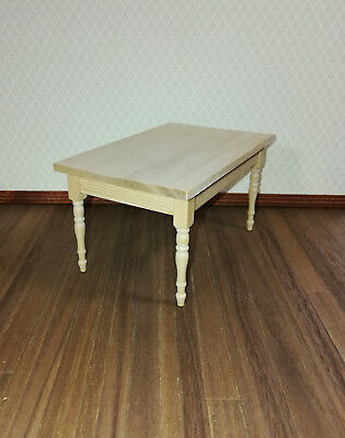 Dollhouse Miniature Unfinished Rectangle Dining Room Kitchen Table ~ GW088