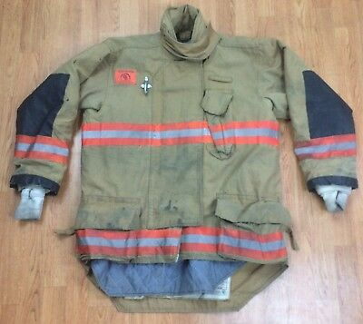 Morning Pride Firefighter Bunker Turnout Jacket 46 Chest x 34 Length
