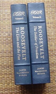 ROOSEVELT, The Soldier of Freedom and The Lion and the Fox, EASTON PRESS, 2 Vol