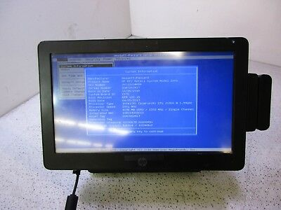 "HP RP2 Retail System Model 2000 INTEL  2GHz 4GB RAM 250GB HDD 14"" Display T9-B14"