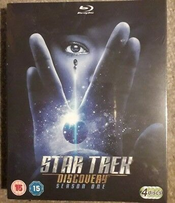 Star Trek - Discovery Season 1 Blu Ray - Region Free New And Sealed