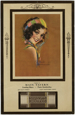 Rare 1935 Vintage R. Wilson Hammell Art Deco Pin-Up Tavern Advertising Calendar