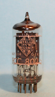1x TELEFUNKEN ECC802S VACUUM TUBE TESTED WITH NOS EMISSIONS