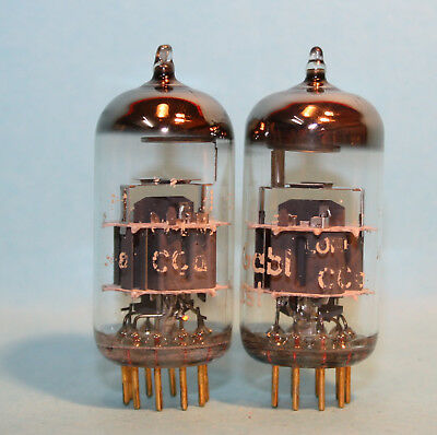 2x TELEFUNKEN <> CCa E88CC LORENZ VACUUM TUBES TESTED WITH EXCELLENT EMISSION