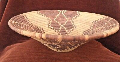 Vintage Folk Art Early Hand Tight Weave  Woven Basket Native American Possibly