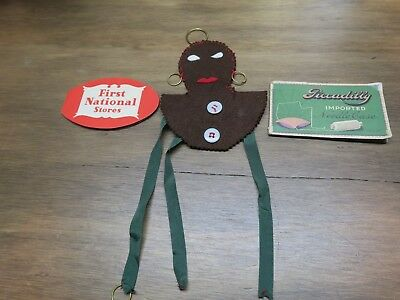Vintage Black Americana sewing item; Piccadilly  and First National sewing kits