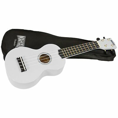 MAHALO SOPRANO UKULELE * WHITE * With Carry Bag