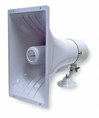 Speco Technologies PA Horn, Weatherproof, White, 15 W  Includes Mounting Bracket