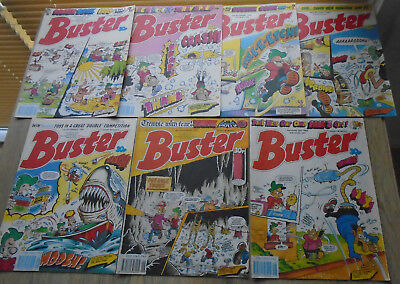 7 BUSTER Comics November December 1989. numbers on listing