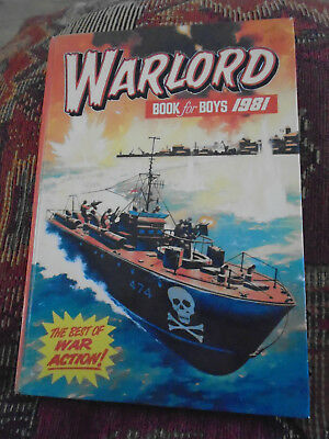 Warlord Book for Boys 1981 Annual unclipped