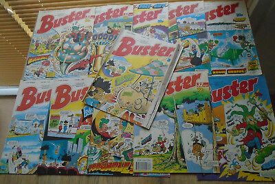 11 BUSTER Comics 1989. numbers on listing