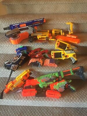 Lot of Nerf Guns & Accessories: 10 guns + darts and accessories