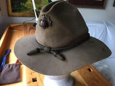 1902 CAMPAIGN HAT With MARINE ANCHOR PIN and CORDS