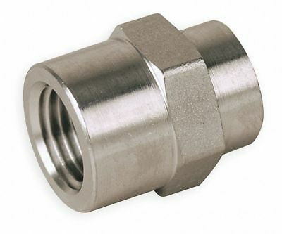 "Parker 316 Stainless Steel Hex Coupling, FNPT, 3/4"" x 1/2"" Pipe Size - Pipe"