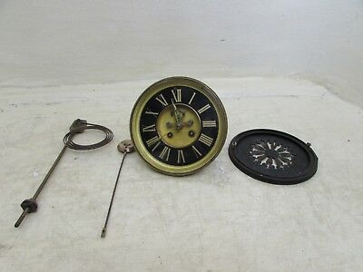 "S Marti Medaille De Bronze Open Escapement Mantel Clock Movement For 5.75"" Fit"
