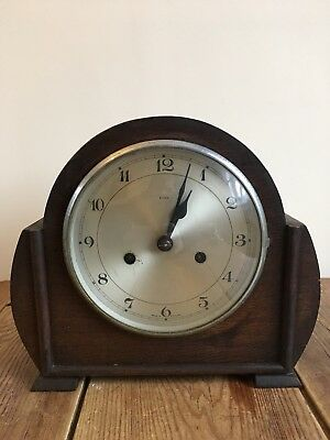 Vintage/Art Deco 'Enfield' Oak Cased Mantle Clock!