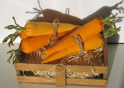 2 Bunches of 3 Easter Carrots Handmade Primitive Ornies Harvest Wreath Tucks
