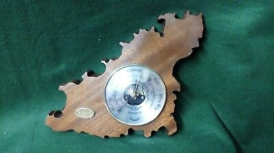 Vintage Wooden Guernsey Shaped Daymaster Barometer ~ By Rowe Guernsey