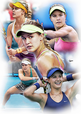 Eugenie Bouchard Unframed Pencil Drawing Art Numbered Print