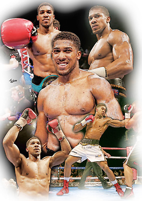 Anthony Joshua Unframed Pencil Drawing Art Numbered Print