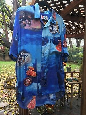 7bcd54cfb NWT OAMC WHITE Malcolm X long sleeve shirt XL Overall Mastercloth ...