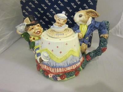 Fritz and Floyd Hand Painted Tea Pot Wonderland Mad Hatters TeaPot Party