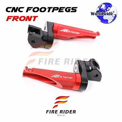 For MV Agusta F4 1078 2009+ Adjustable Front Foot Pegs RED