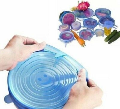 Set New Zero-Waste Reusable Food and Container Lids - 6pcs