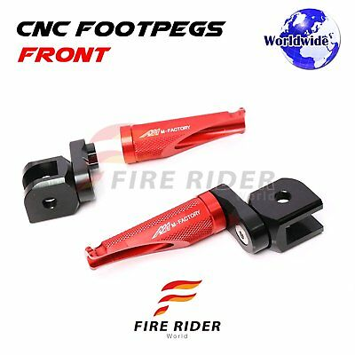 For Ducati 748 /S/R All Year Adjustable Front Foot Pegs RED