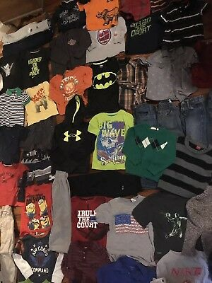 Boys Toddler 4 4t 5 Clothing Lot 65 Pieces! Nike Under Armour Hurley