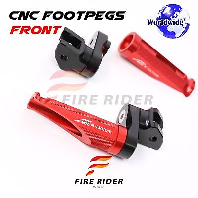 For Ducati 1198 S/R/EVO 2010-2012 Adjustable Front Foot Pegs RED