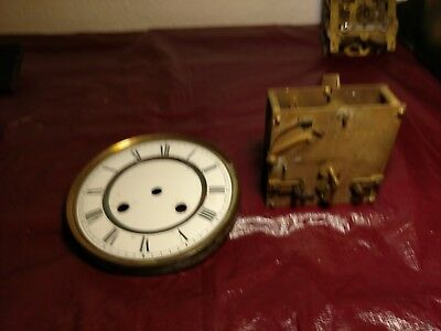 Antique Clock Movement (unmarked) with Porcelain Dial