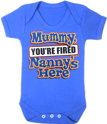NANNY New Born Baby Romper Bodysuits MUMMY FIRED NANNYS Baby Jumpsuits One Piece
