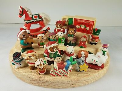 20 Christmas Hallmark Merry Miniatures Rocking Horse Slumber Mouse Joy Bears