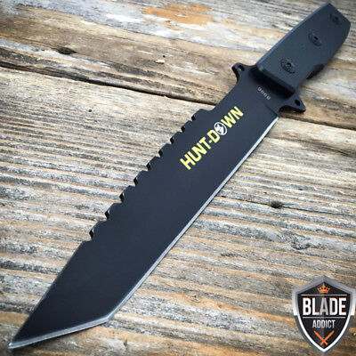 """11.5"""" Tanto Full Tang Hunting Combat Tactical Fixed Blade Camping Knife Bowie -W"""